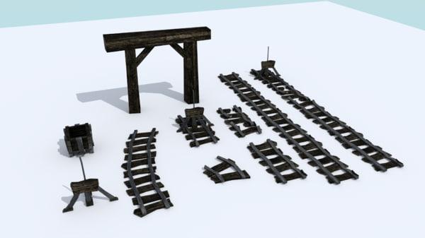 3d tracks mines cart