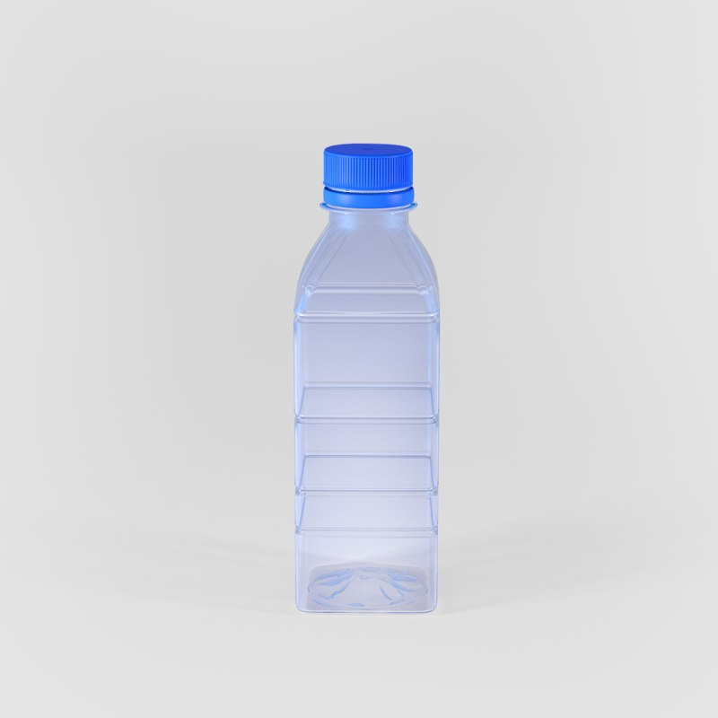 plastic water bottle 200ml 3d model
