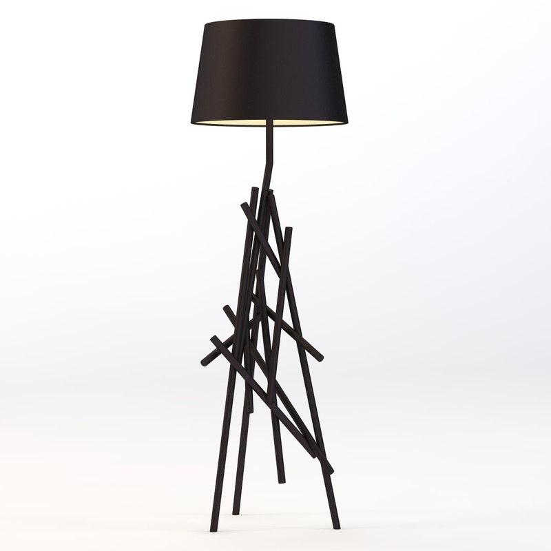 floor lamp 3d 3ds