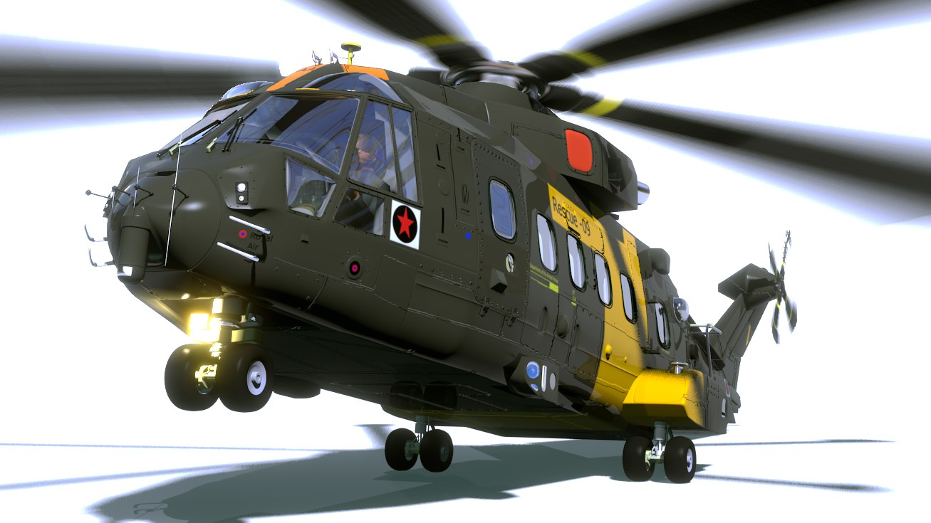 3d model eh 101 helicopter
