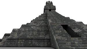 pyramid tikal guatemala 3d max