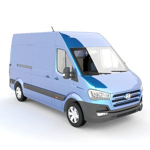 3d hyundai h350 van model