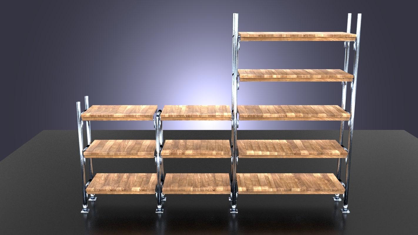 industrial shelving 3d model