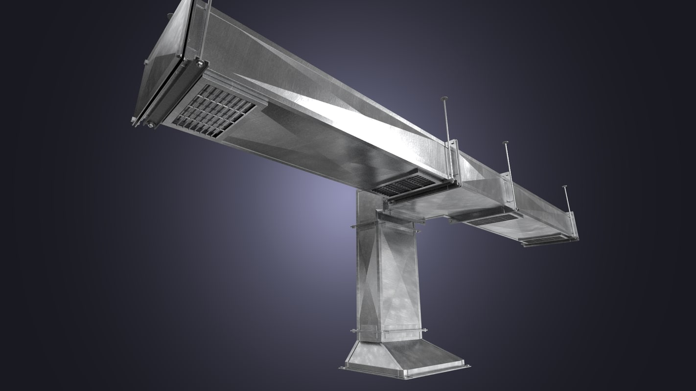 square air ducts 3d model