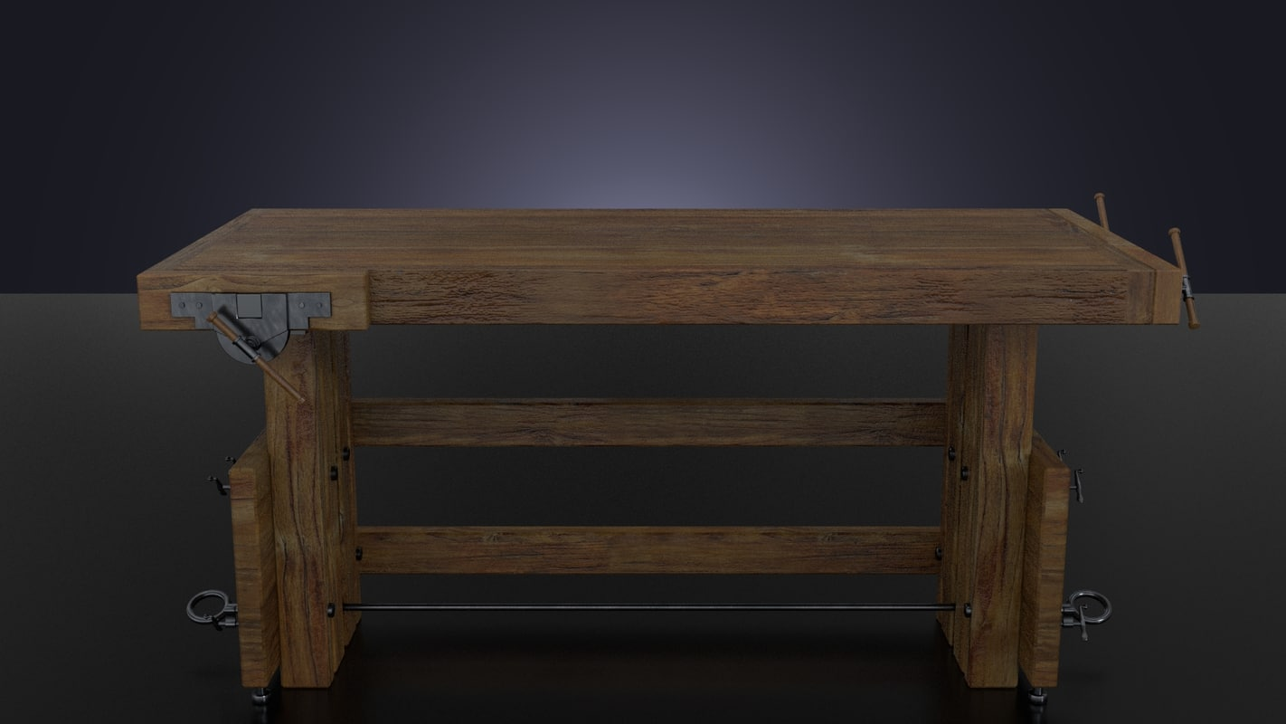 3d workbench table model