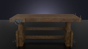 3d workbench table model