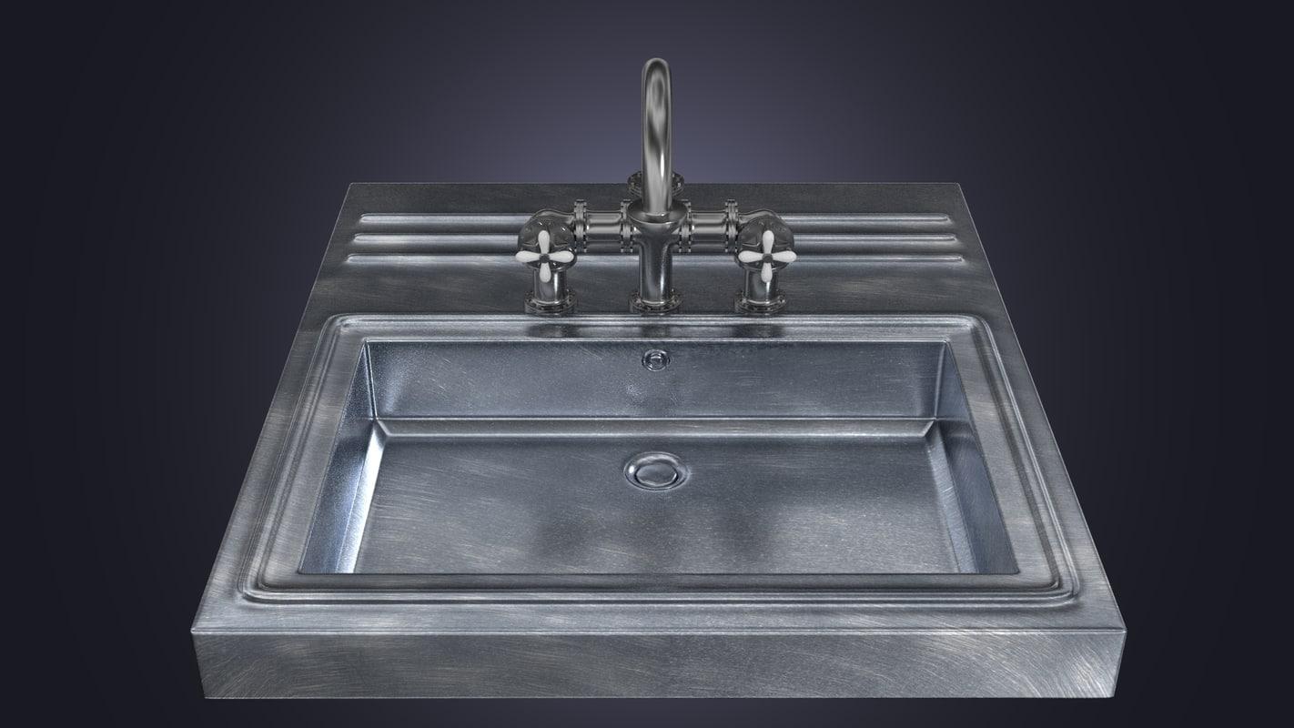 washbasin faucet 3d x