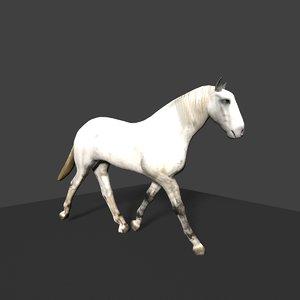 3d model of horse
