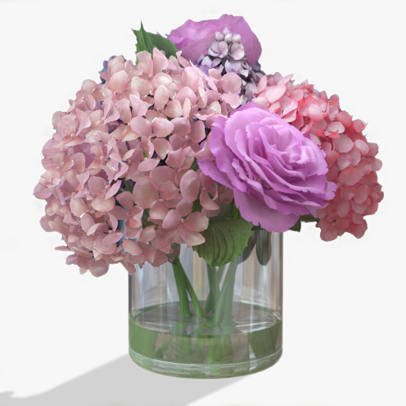3d bouquet roses corona model