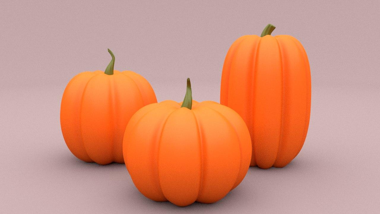 cartoon pumpkin 3ds