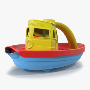 3d model tugboat bath toy