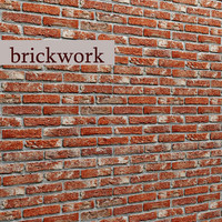 bricks wall 3d obj
