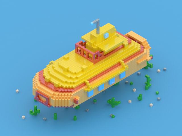 max yellow submarine pixelart