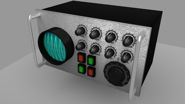 3d vintage oscilloscope