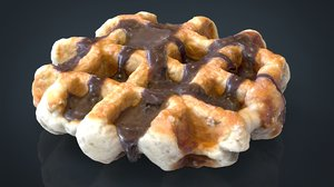 3d model of chocolate waffle