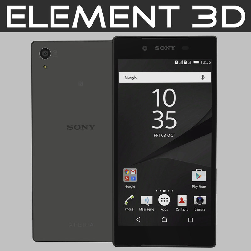 3d realistic element sony xperia