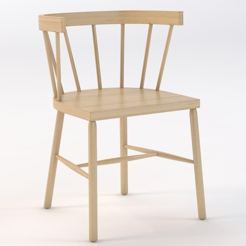 3d model andrew indoor chair