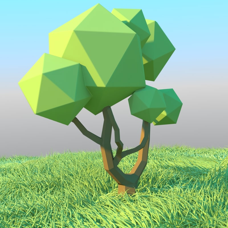 sample trees c4d free