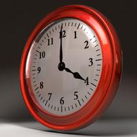 3d c4d wall clock