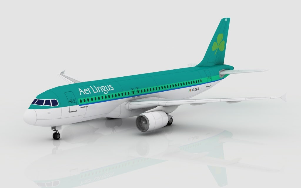 3d model airbus a320 irish