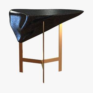 3d coffee table basalt indoor