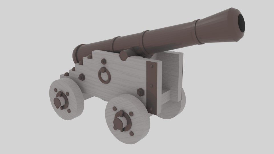 3d cannon ready model