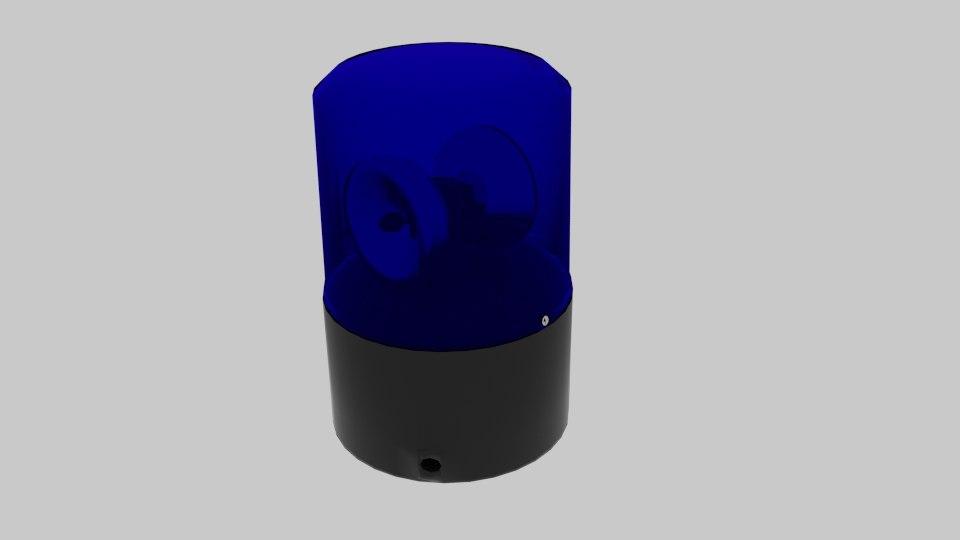 3d police siren model