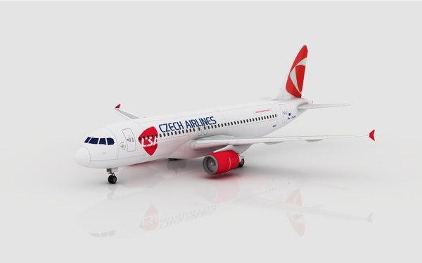 3d model airbus a320 csa