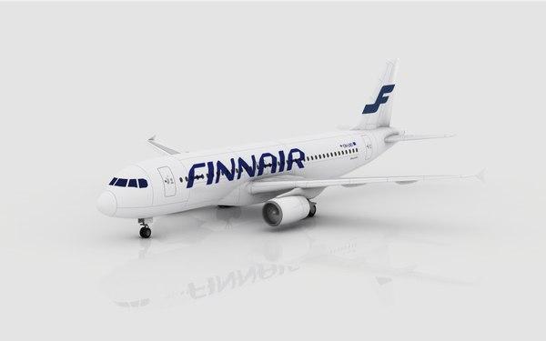 3d airbus a320 finnair