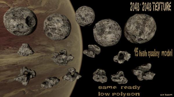 asteroid planet 3d obj