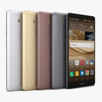 3d huawei mate 8 color model