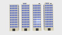 3d model block building