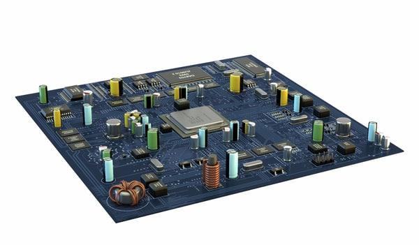 computer motherboard 3d model