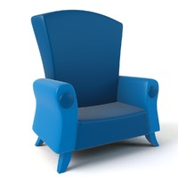 cartoon armchair 3d 3ds
