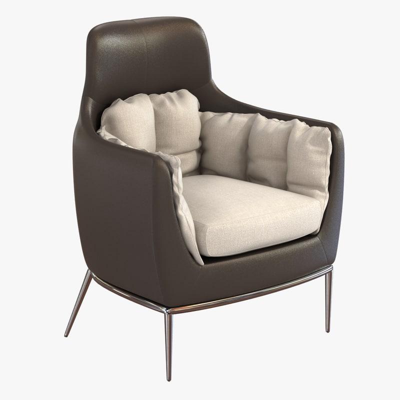 chair tulip amura 3ds