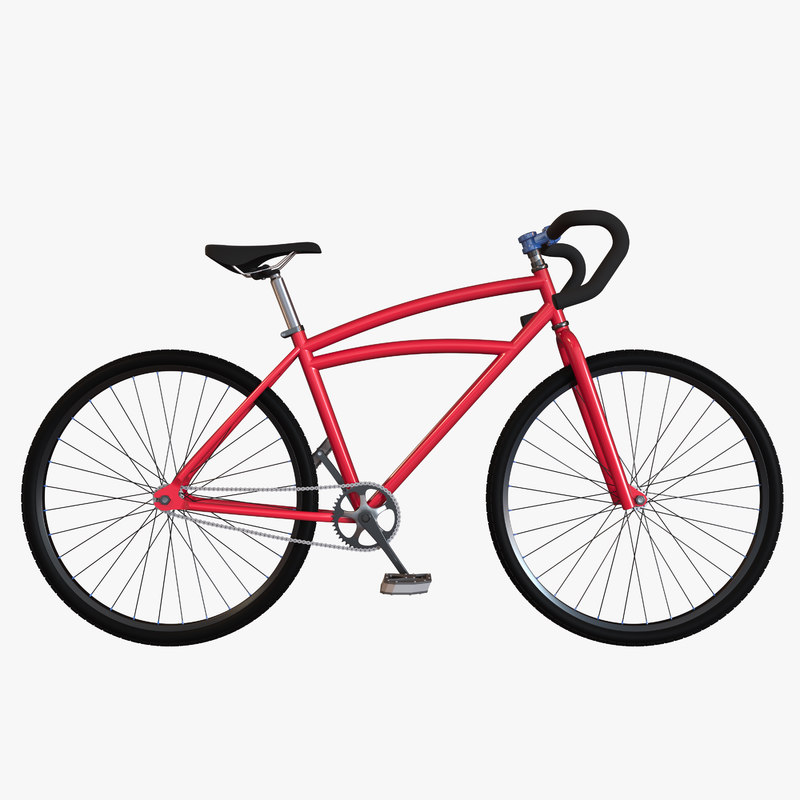 custom bicycle 3d obj