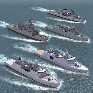 nato warships ship 3d 3ds