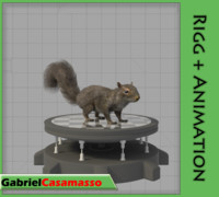 tree squirrel fbx