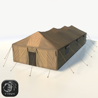 camping military tent 3d model