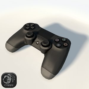play station 4 controller 3d max