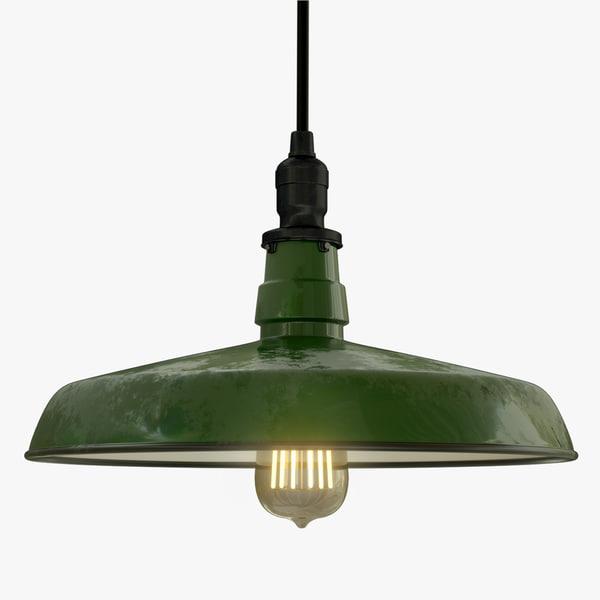 3d model industrial pendant light