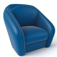 cartoon armchair obj