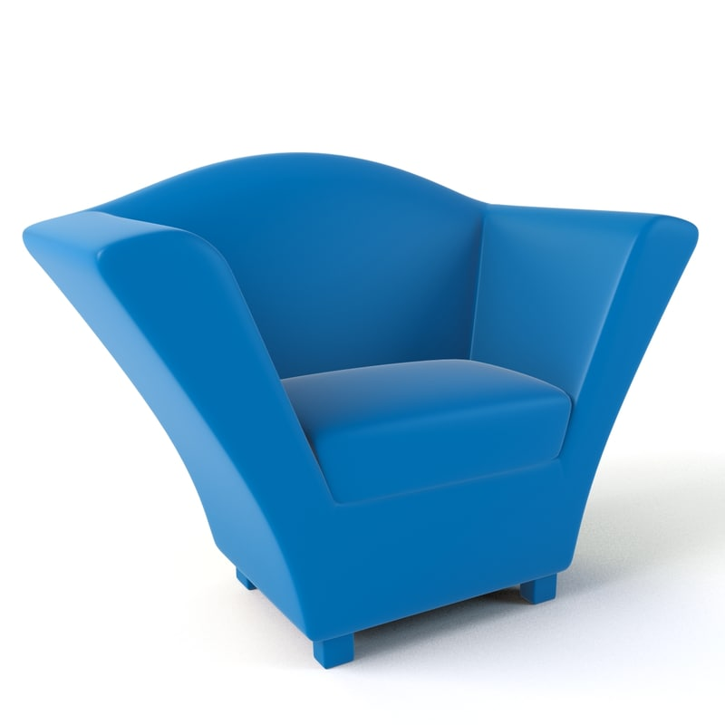 cartoon armchair 3d model