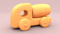 3d toy wood truck model
