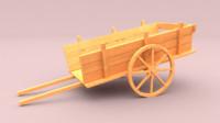 Wood Toy Cart