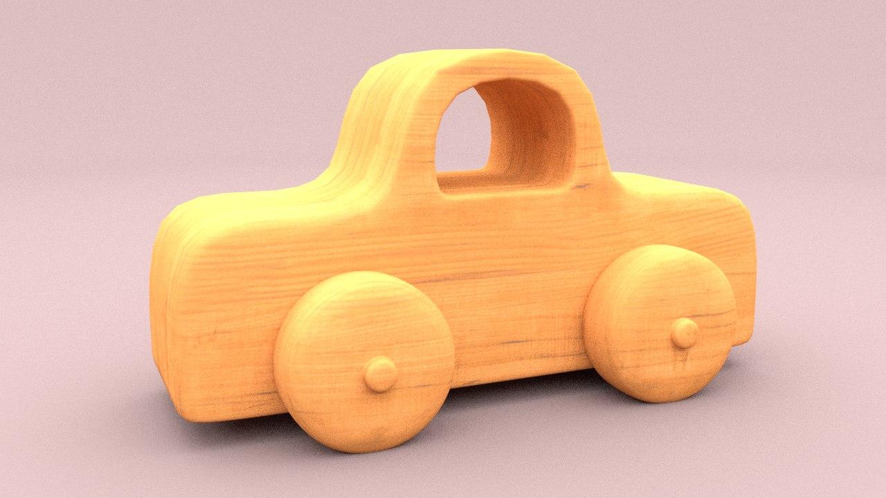 toy car wood 3d model