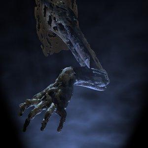 lwo hand zombie arm