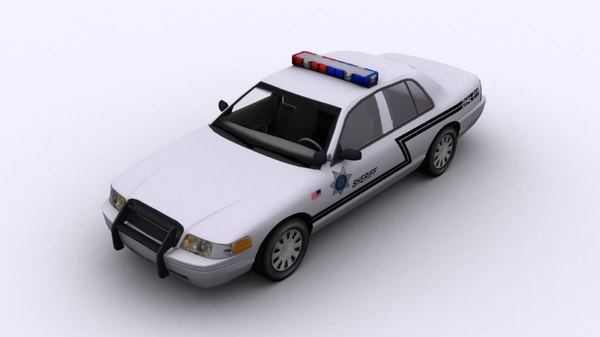 police car 3d 3ds