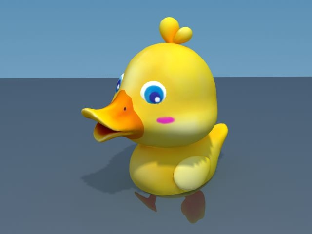 3d cartoon duck