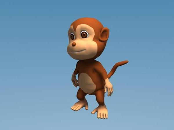 cartoon monkey 3d max